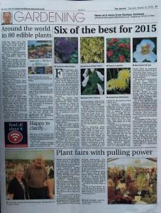 Gardening page jan 15th 2015