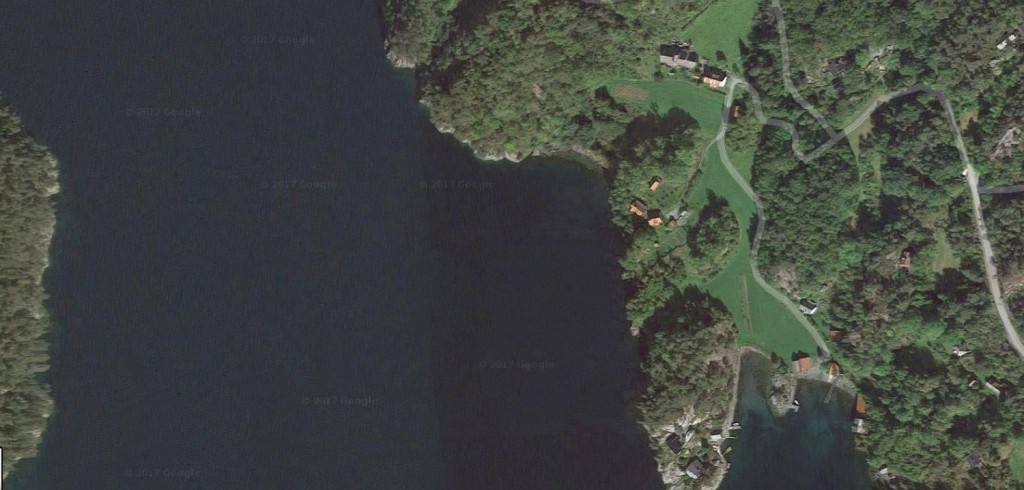 Vidar Rune's house is in the shoreline in the centre of this picture