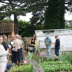 Course participants on the walled garden tour!