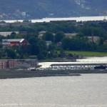 View over Trondheim from Saksvikkorsen with the new Grilstad marina in the foreground