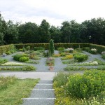 "The Renaissance Garden at Ringve is a tribute to the first Norwegian book of gardening, published in Trondheim in 1694. Both the geometrical form and the plants in the Renaissance Garden follow guidelines in the book. The division into quarters and symmetrical beds are part of the Renaissance idea that man could master nature. The plants were all useful, and are a mix of vegetables, medicinal plants, herbs, fiber plants, and ornamental plants. The Renaissance Garden holds 123 species or varieties of species. The plant labels give information about the name and the traditional usage of each plant, also in English. A list of the plants´ scientific names is found here: http://www.ntnu.no/c/document_library/get_file?uuid=3c71f8ca-322c-4b20-b403-a28579b587bb&groupId=10476 The first Norwegian book of gardening was called ""Horticultura"" and was written by Christian Gartner, who was a ""city gardener"" of Trondheim in the late 1600s. He wrote the book to promote gardening in Mid-Norway at a time when this was considered to be very far north."
