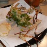 Shidoke and tsukushi (Equisetum) tempura