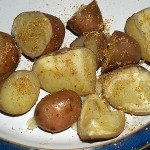Golpar used here to spice up potatoes