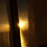 Setting sun from Skomvær Lighthouse