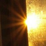 Setting sun from Skomvær Lighthou