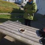 Wonderful tasty seaweed dish was presented