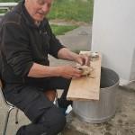 Preparing baccalao
