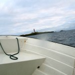 Transferred to a small boat for the transfer to Skomvær lighthouse, 15 km further south west...