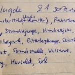 + scorsonnerot, making it 23... Dandelion, Rhubarb, Sorrel, Angelica sylvestris, Angelica archangelica, Cow Parsley, Scurvy-grass, Mertensia maritima, Rumex crispa, Sedum acre, Allium victorialis, Chives, Mint, Roseroot, Sea Campion, Chickweed, Viola canina, Dabberlocks/ Winged Kelp, Sea Lettuce and Dulse