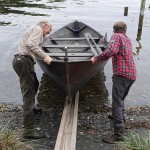 Vidar-Rune and Eirik Lillebøe Wiken​ launch the boat