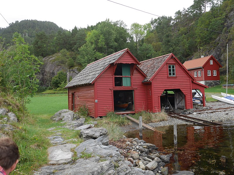 The boathouses