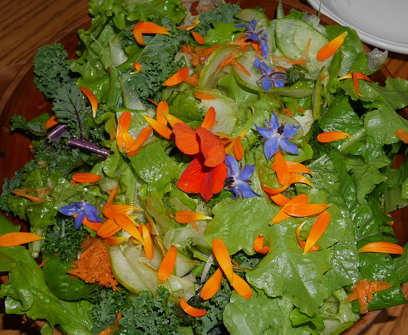 Veronica and Dag's house for dinner and a colourful salad!!