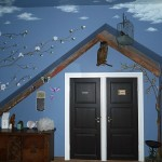 The bird room...