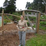 Ariane met me at the Edible Woodland Garden