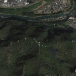 Google image of the area; the spa is top right, the katakuri area low down near the river