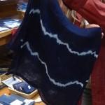 The blue dye from Japanese Indigo (Polygonum tinctorium)