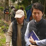 The nursery owner on the left with one of our guides Masashi Fujiwara on the right