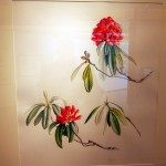 The national flower of Nepal, Rhododendron arboreum...although not mentioned at the exhibition, the flower petals are eaten and in some areas the petals are pickled by simply mixing with salt and chili!! One day :)