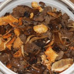 Soaking dried wild fungi