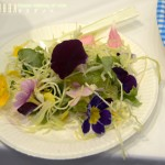 A Japanese flowery salad using various Primula, including Primula sieboldii (From http://ameblo.jp/pakoemon/theme-10032322293.html)