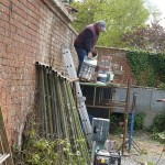 Ongoing wall restoration...