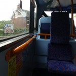 On the bus between Winchester and Alton, a sign pointing towards Gilbert White's House (and also Jane Austen's)!