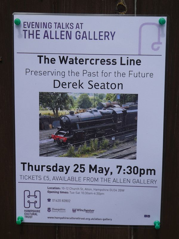 The next talk after mine was about the Watercress Line!