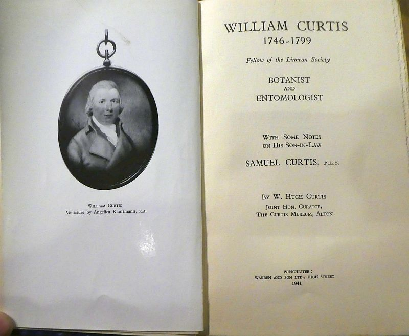 I was shown the collection of information about William Curtis the Botanist...