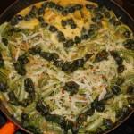 Day two ostrich fern / dandelion bud omelette