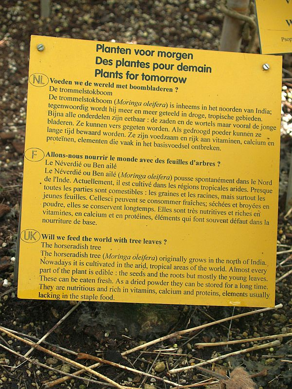 Sign in the National Botanical Garden of Belgium