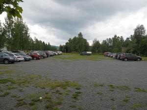 Parkeringsplassen like utenfor sør grensen