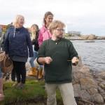 Demonstrating Nordic Coriander (Triglochin maritima)