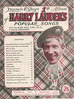 Harry Lauder and twisted walking stick