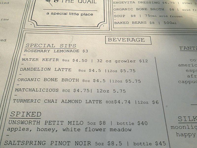 Guess what I chose? Dandelion Latte or Organic Bone Broth? ;)