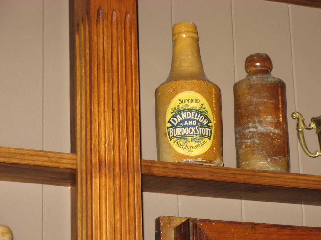 Old bottle of Dandelion and Burdock Stout at my Dad's pub The Cricketers Arms in Eastleigh / North Stoneham...