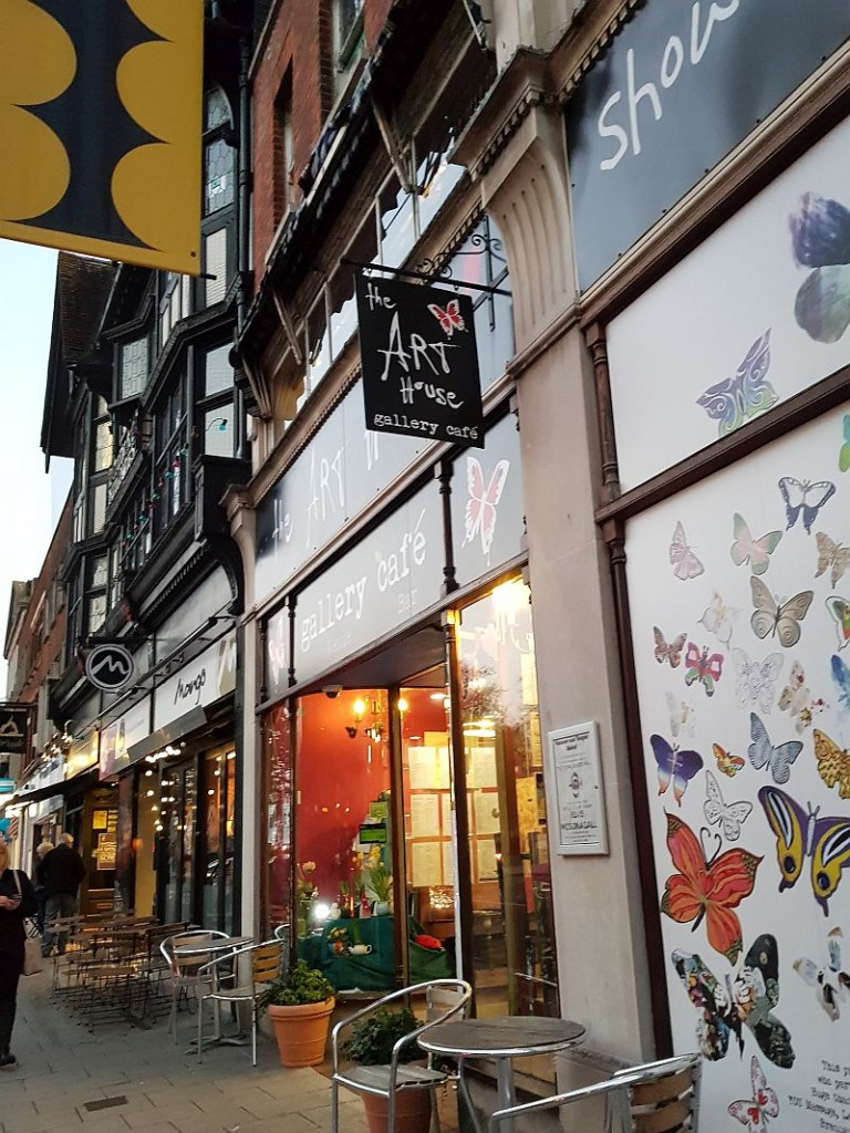 The venue for my talk was, as last time, the wonderful Art House, an alternative cafe with vegetarian food and a venue with events on most nights!