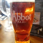Pub lunch next to the river...fish and chips and Abbot Ale!