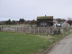 -- Elisa Monsø's wonderful vegetable garden and house at Helgebostad, Hitra