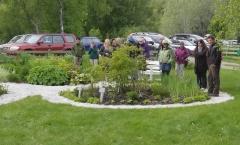 Plantearven hage på Steigen Bygdetun -- Jeg holdt en timers foredrag på Steigen Bygdetun på Engeløya lørdag 20. juni. Etterpå var kursdeltagerene og jeg en liten tur rundt samlingen av Plantearven stauder og urtehagen..