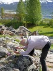 Arve Elvebakk taking pictures for the web site