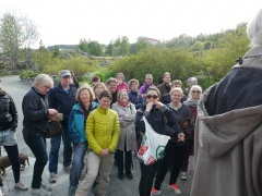 At the start of the edible tour of the garden