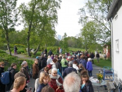 The Edible tour of the garden attracted over 100 people!
