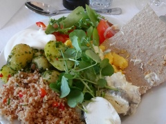 Great veggie lunch with watercress!!