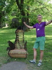 Holmboes bench  -- Holmboes bench uses 19 different useful tree species in its construction