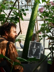 Rob Wagner with the Titan Arum -- Rob Wagner with the Titan Arum