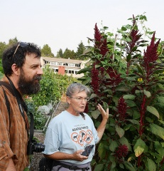 Lacia and Rob -- Lacia and Rob with an Amaranth