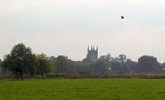 Looking back towards Pershore -- Looking back towards Pershore