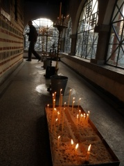 Dragalevtsi Monastery, Sofia -- A light for a loved one... Dragalevtsi Monastery, Sofia