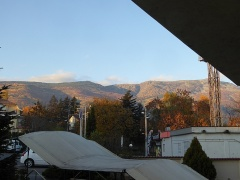 Morning view of Vitosha mountain from my hotel room -- Morning view of Vitosha mountain from my hotel room