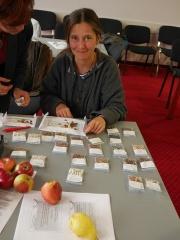 Maria Tariyska sorts the seed!